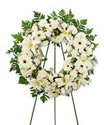 Couronne de Fleurs Blanches Mélangées