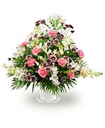 Panier a Anse Assortiment de Fleurs