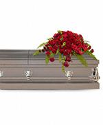 Gerbe Funéraire  de Rose Rouge pour Cercueil