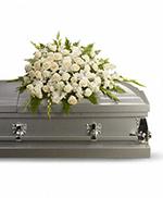 Gerbe Sérénité Soyeuse pour Cercueil